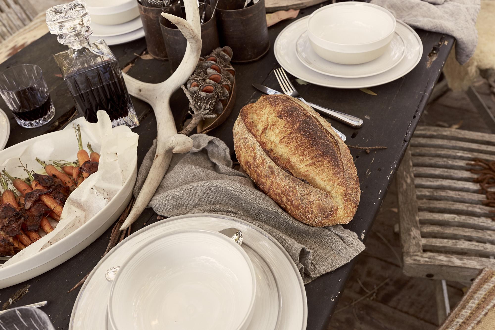 Ellen DeGeneres Royal Doulton CATGK farm feed folk style outdoor eating recipe captain and the gypsy kid